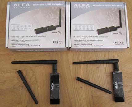 ALFA AWUS036E + 5dbi antenna